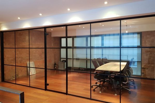 Banded-glass-office