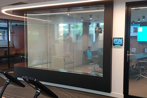 Clear Smart Glass - Power On
