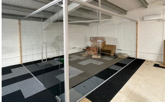 Single Glazed Glass Office