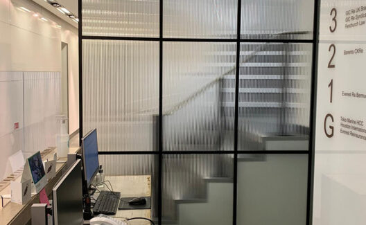 Banded Glass Partitioning